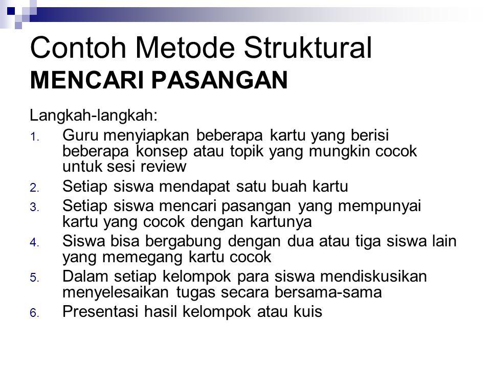 Contoh Metode Struktural MENCARI PASANGAN