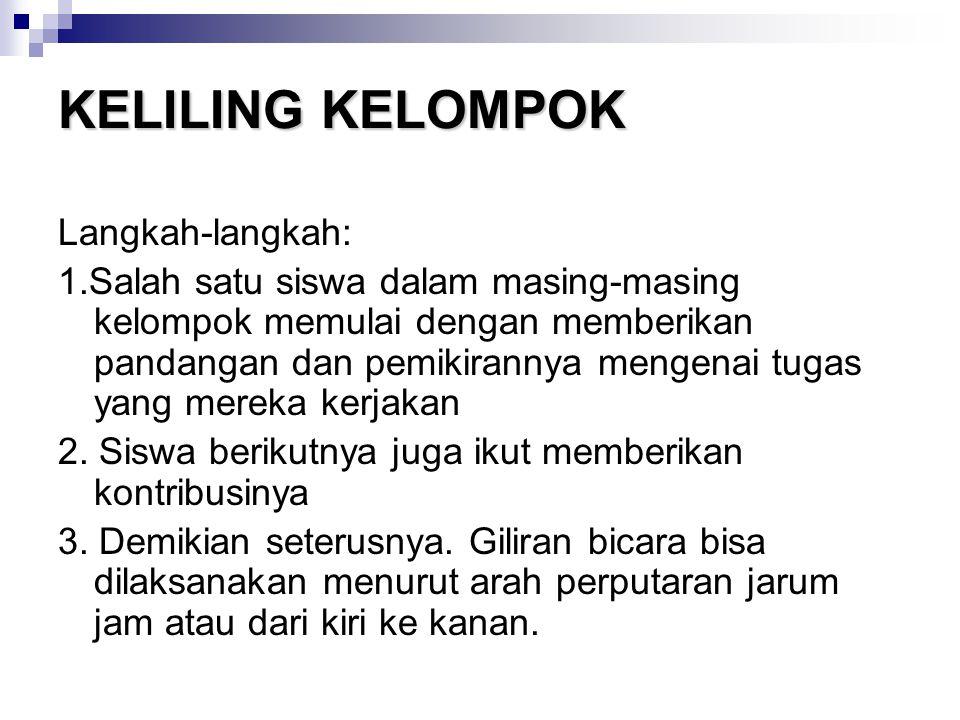 KELILING KELOMPOK Langkah-langkah:
