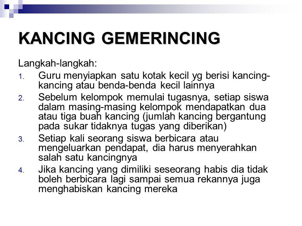 KANCING GEMERINCING Langkah-langkah: