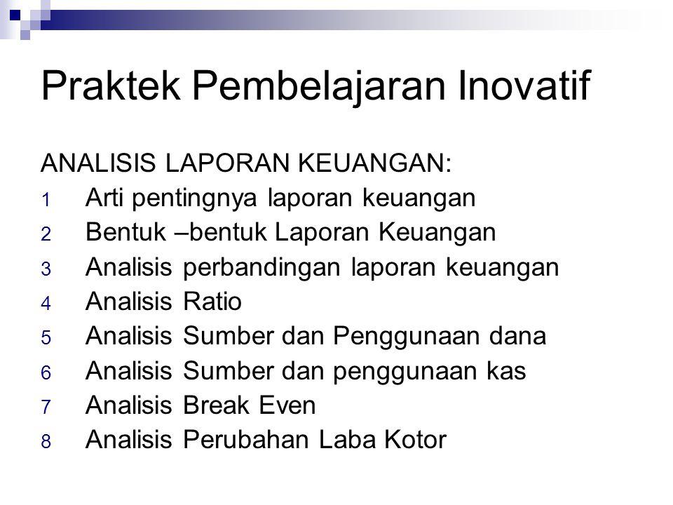 Praktek Pembelajaran Inovatif