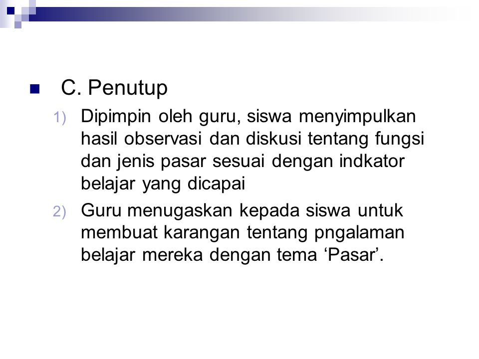 C. Penutup