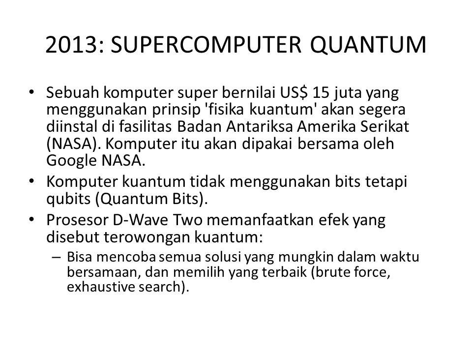 2013: SUPERCOMPUTER QUANTUM