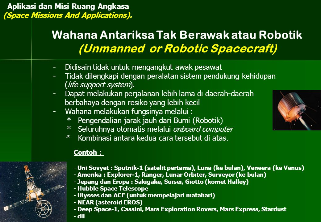 Wahana Antariksa Tak Berawak atau Robotik
