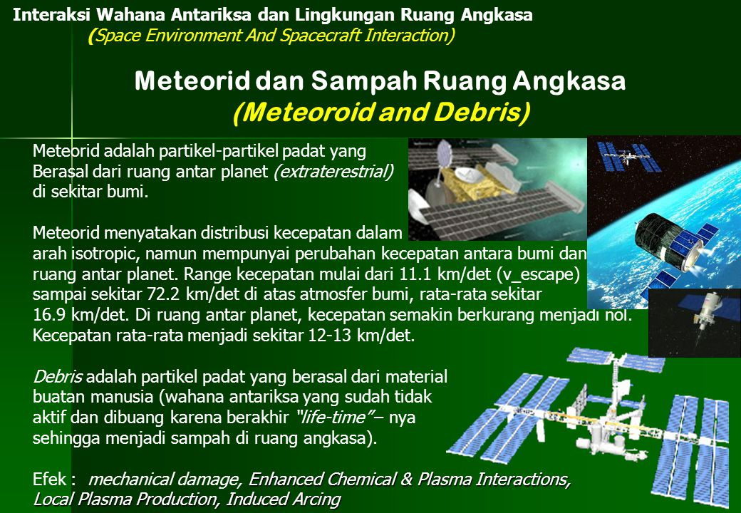 Meteorid dan Sampah Ruang Angkasa (Meteoroid and Debris)