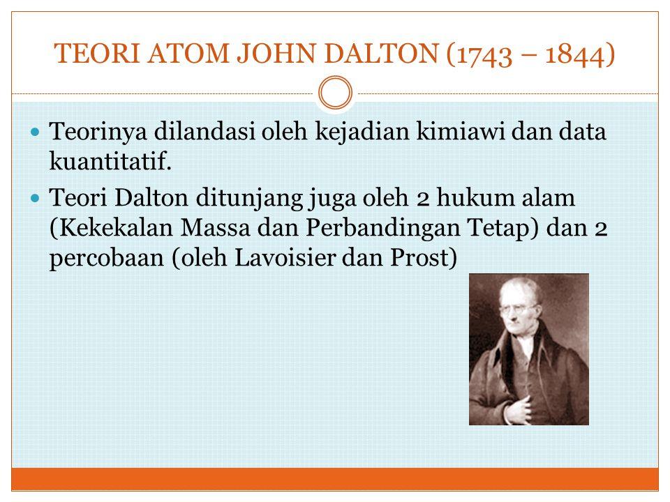 TEORI ATOM JOHN DALTON (1743 – 1844)
