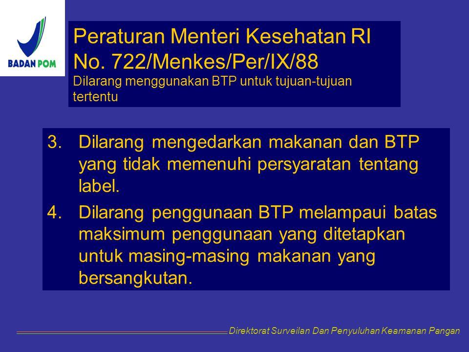 Peraturan Menteri Kesehatan RI No. 722/Menkes/Per/IX/88