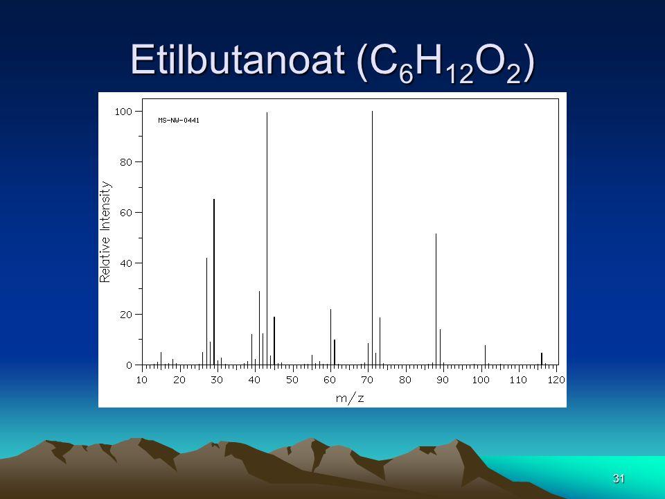 Etilbutanoat (C6H12O2)