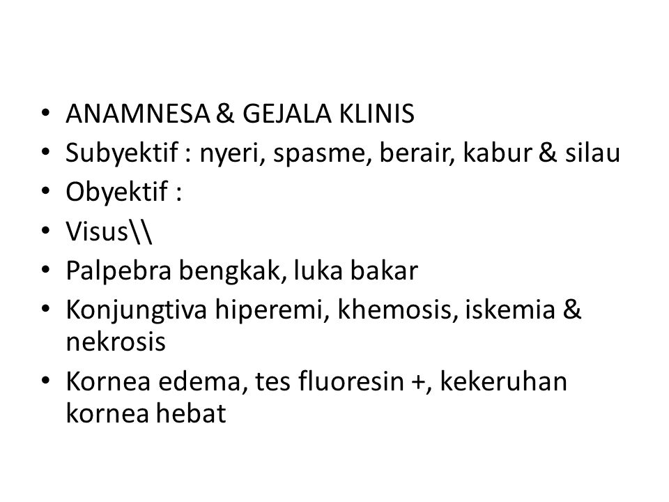 ANAMNESA & GEJALA KLINIS