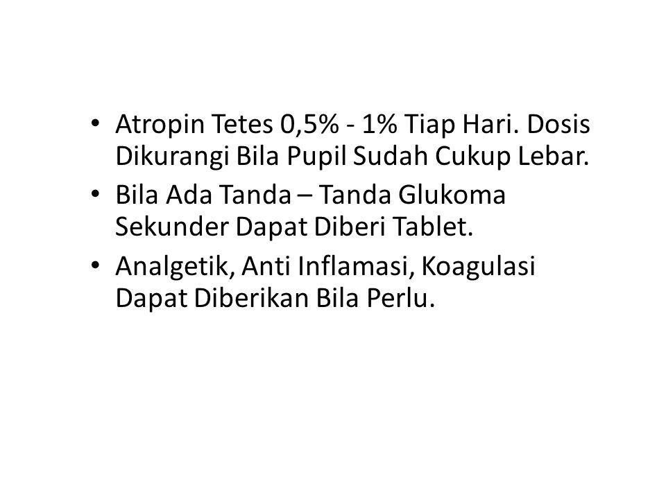 Atropin Tetes 0,5% - 1% Tiap Hari