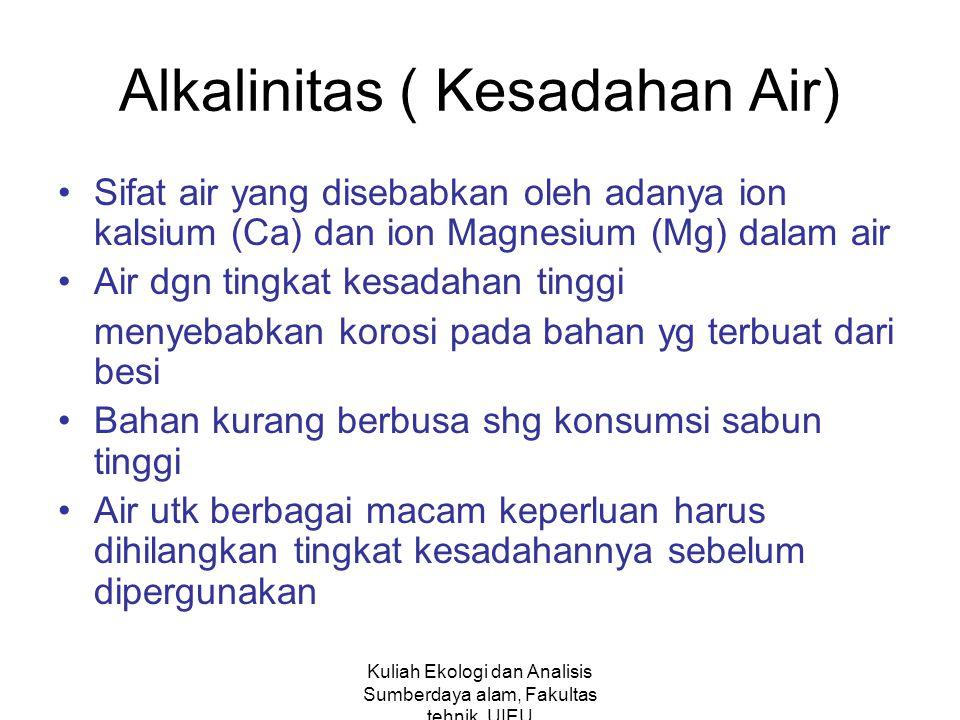 Alkalinitas ( Kesadahan Air)
