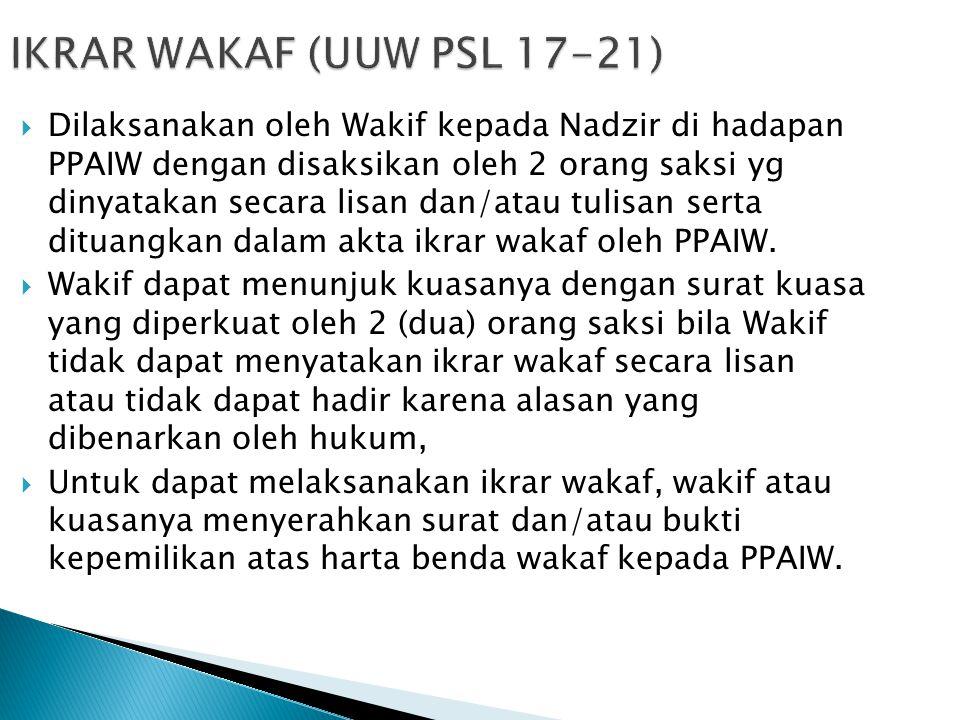 IKRAR WAKAF (UUW PSL 17-21)