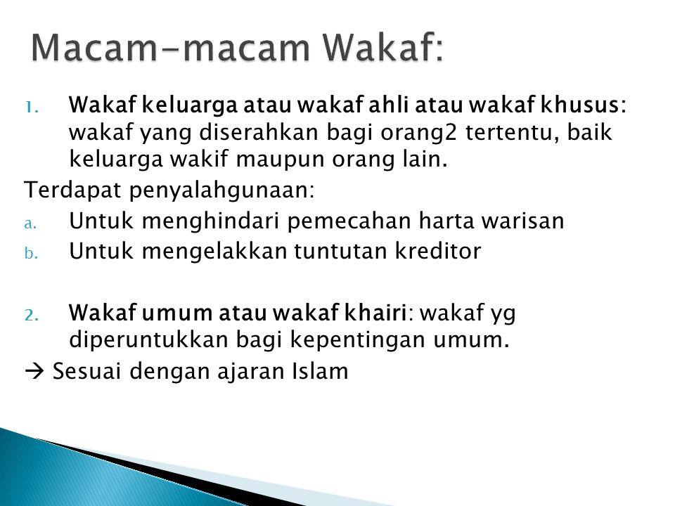 Macam-macam Wakaf: