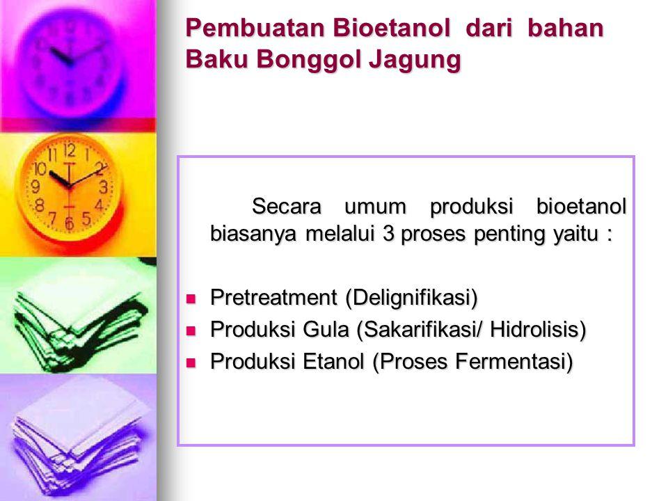 Pembuatan Bioetanol dari bahan Baku Bonggol Jagung