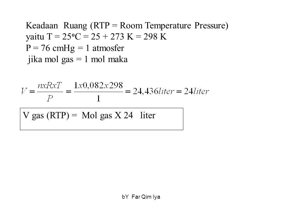 Keadaan Ruang (RTP = Room Temperature Pressure)