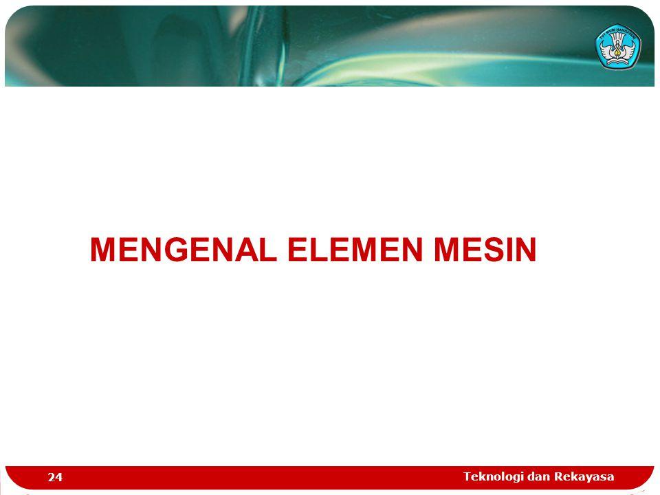 MENGENAL ELEMEN MESIN Teknologi dan Rekayasa