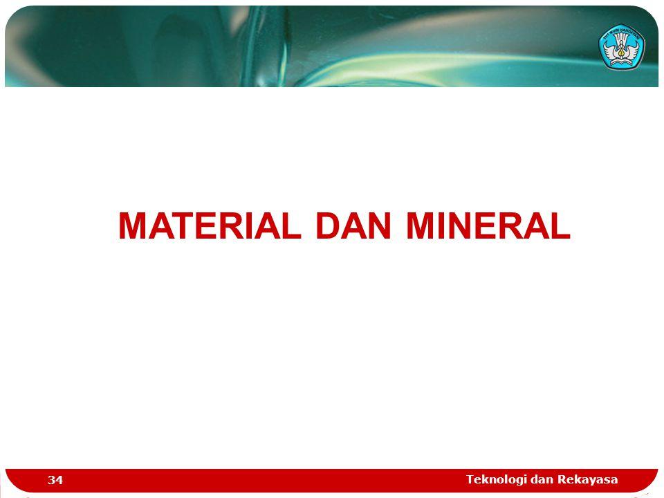 MATERIAL DAN MINERAL Teknologi dan Rekayasa