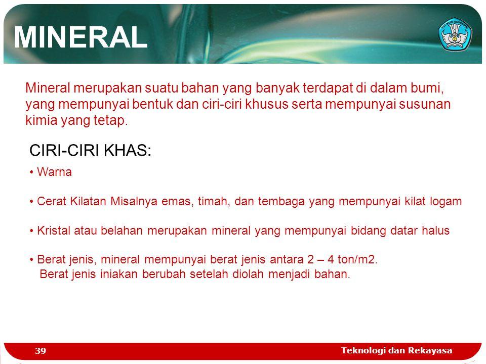 MINERAL CIRI-CIRI KHAS: