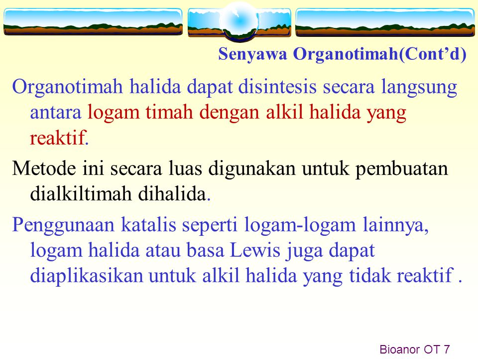 Senyawa Organotimah(Cont'd)