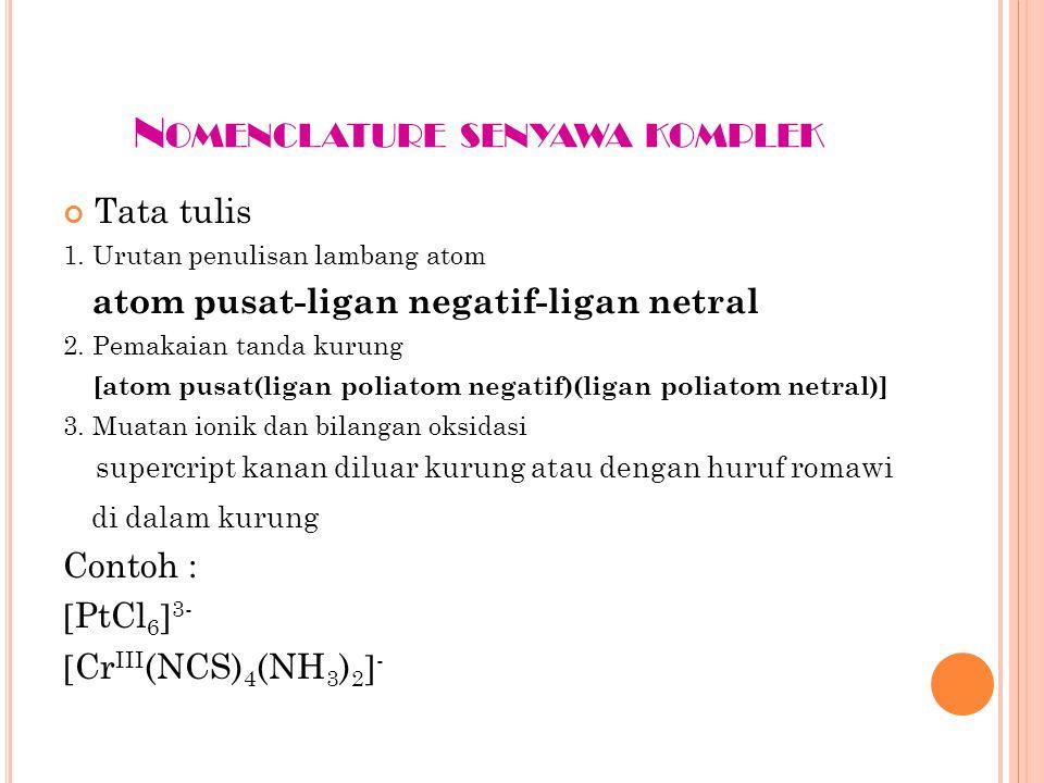 Nomenclature senyawa komplek