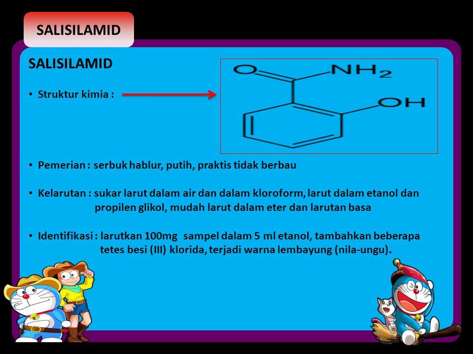 SALISILAMID SALISILAMID Struktur kimia :
