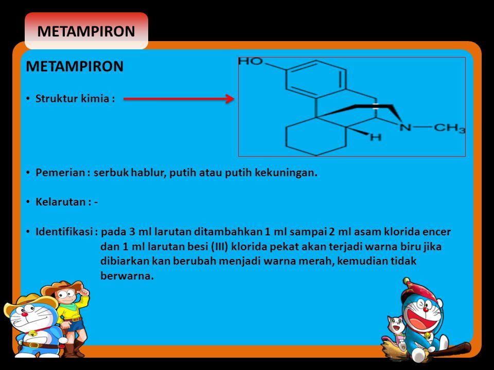 METAMPIRON METAMPIRON Struktur kimia :