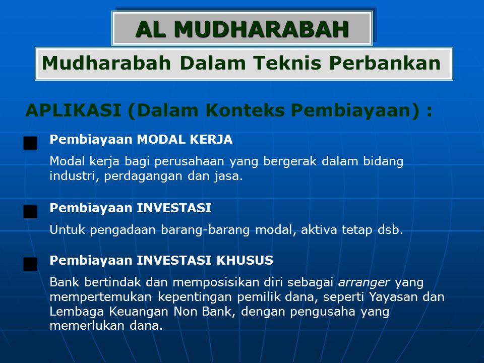 AL MUDHARABAH Mudharabah Dalam Teknis Perbankan