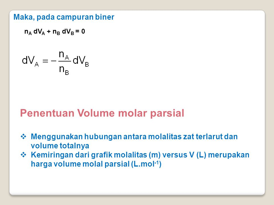 Penentuan Volume molar parsial