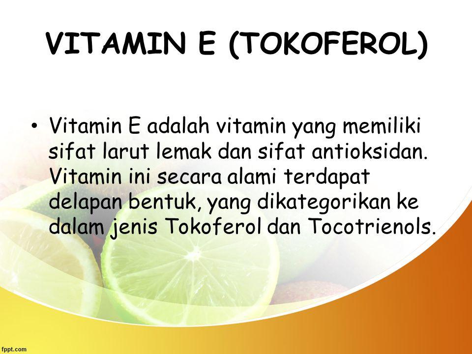 VITAMIN E (TOKOFEROL)