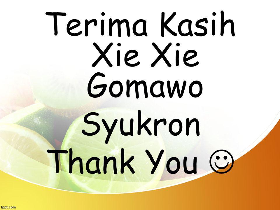 Terima Kasih Xie Xie Gomawo Syukron Thank You 
