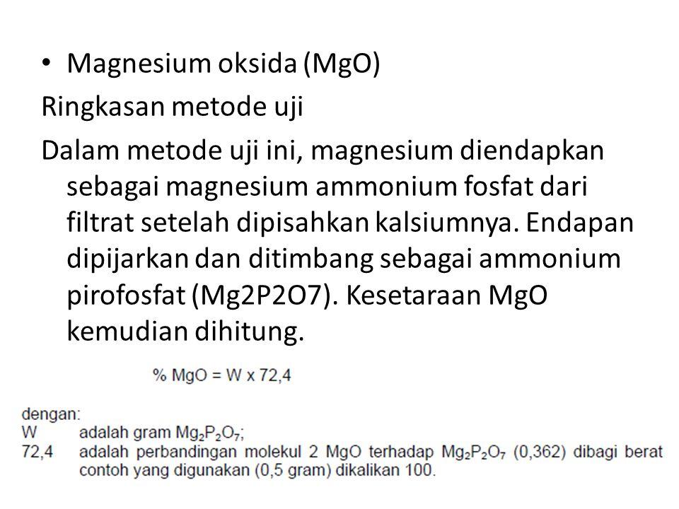 Magnesium oksida (MgO)