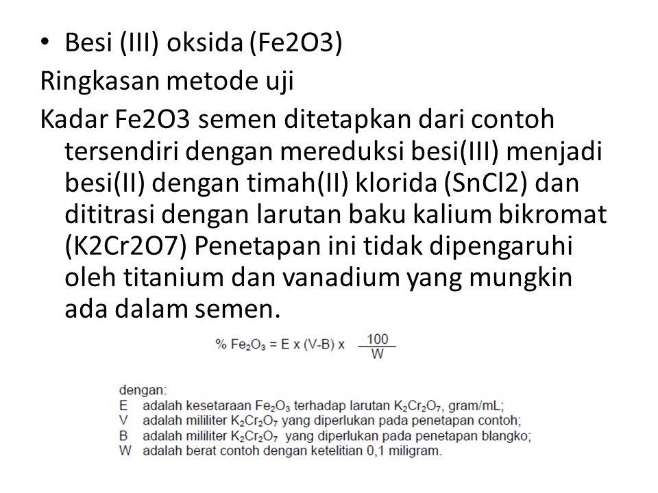 Besi (III) oksida (Fe2O3)