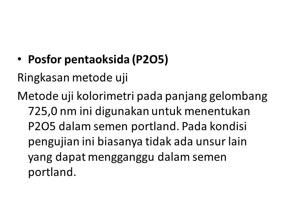 Posfor pentaoksida (P2O5)
