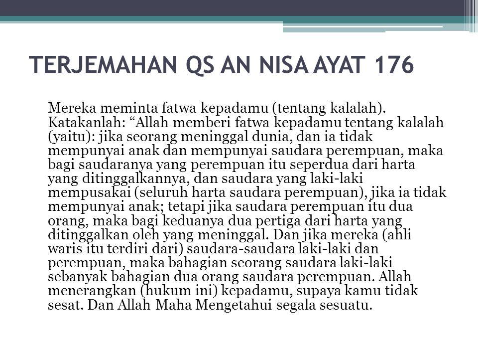 TERJEMAHAN QS AN NISA AYAT 176