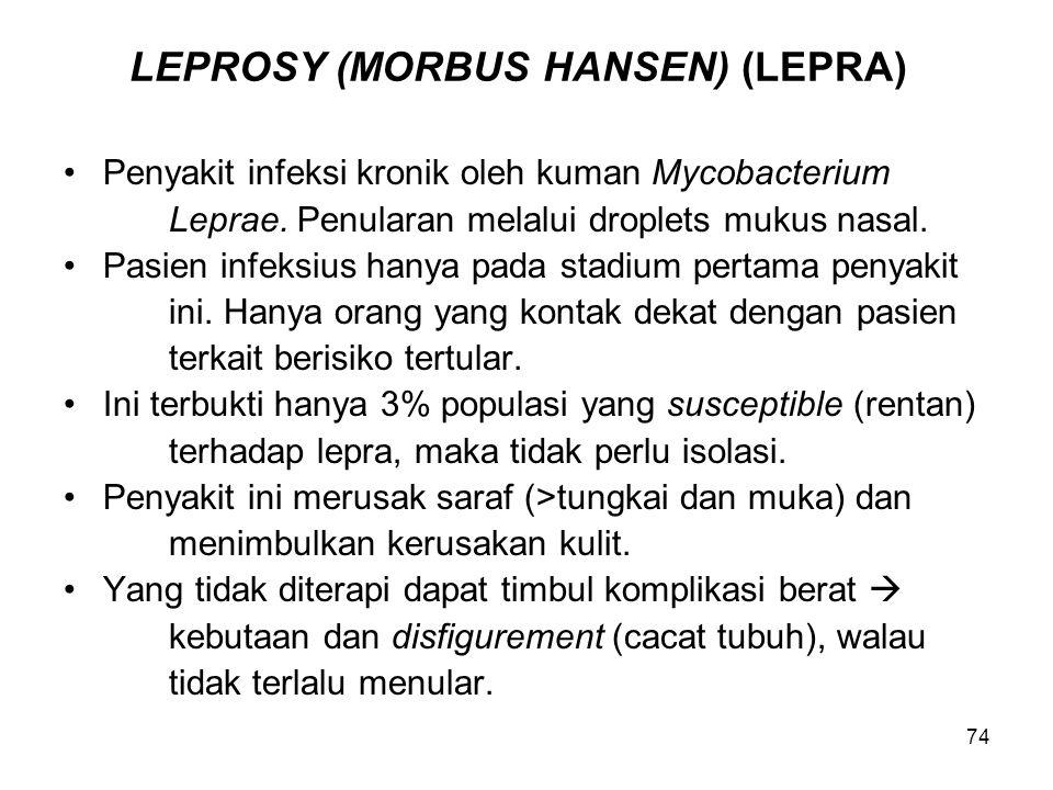 LEPROSY (MORBUS HANSEN) (LEPRA)