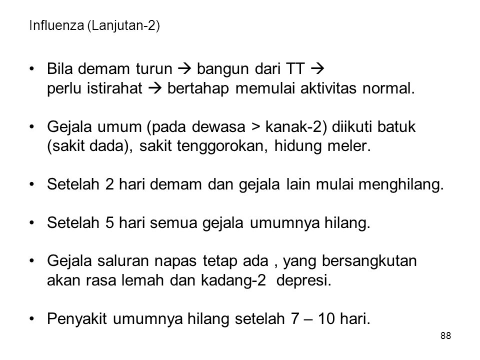 Influenza (Lanjutan-2)