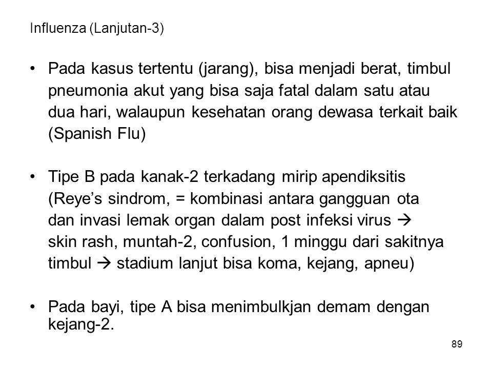 Influenza (Lanjutan-3)