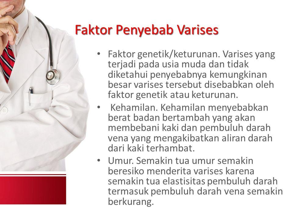 Faktor Penyebab Varises