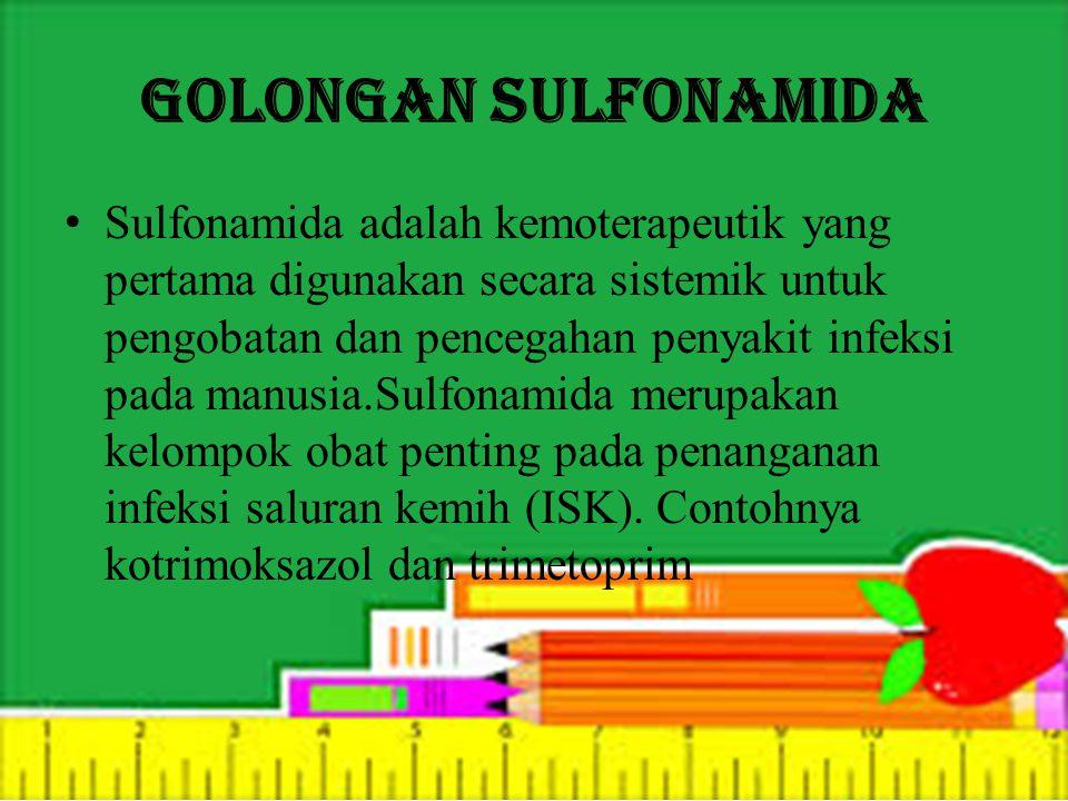 Golongan Sulfonamida