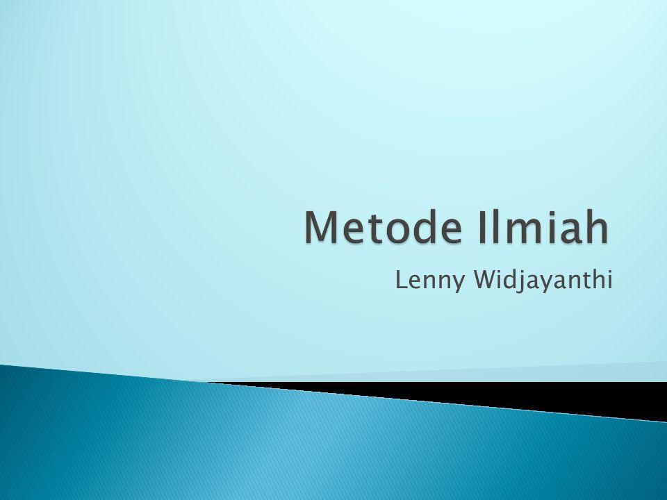 Metode Ilmiah Lenny Widjayanthi