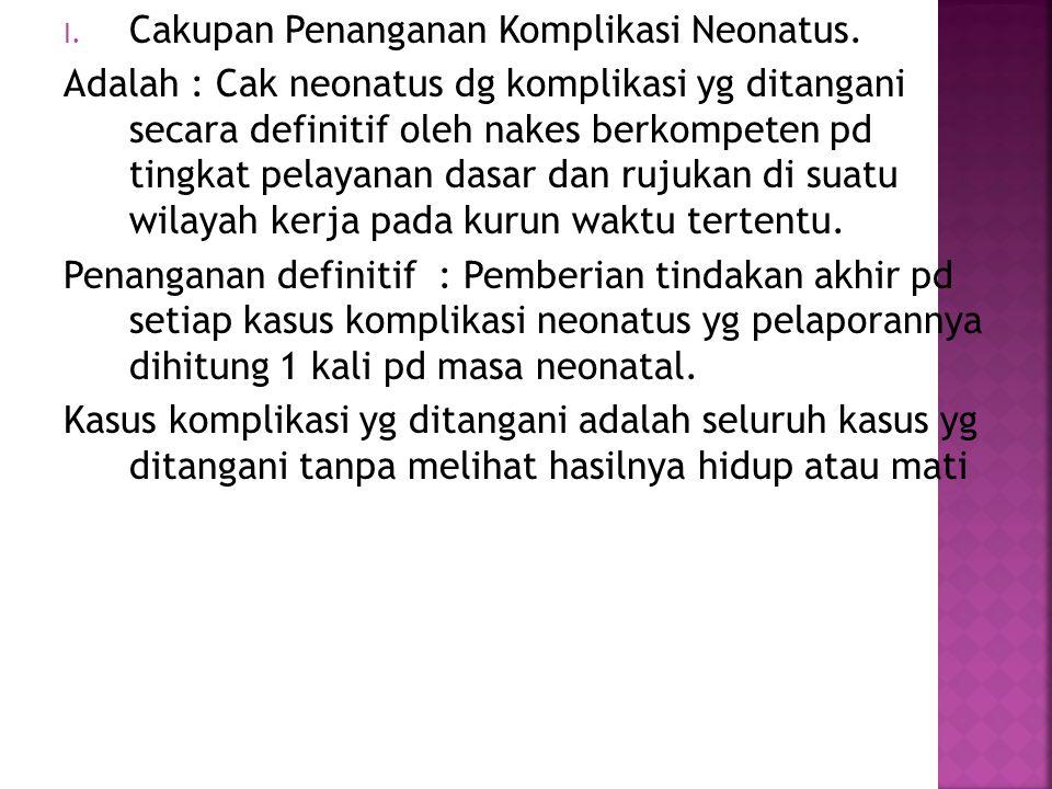Cakupan Penanganan Komplikasi Neonatus.