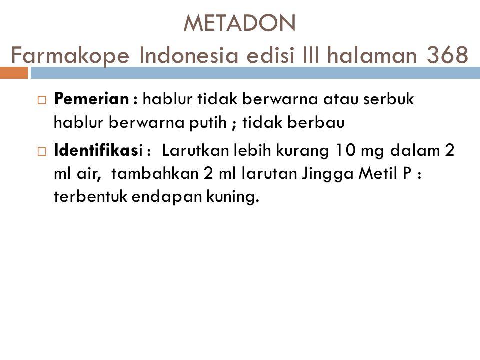 METADON Farmakope Indonesia edisi III halaman 368