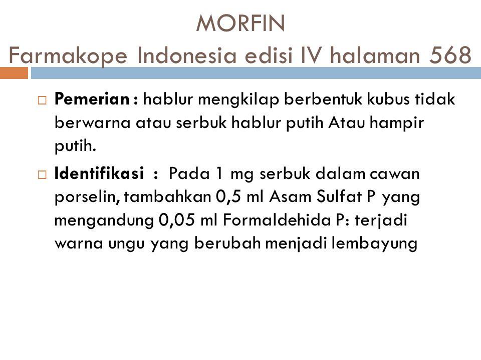 MORFIN Farmakope Indonesia edisi IV halaman 568