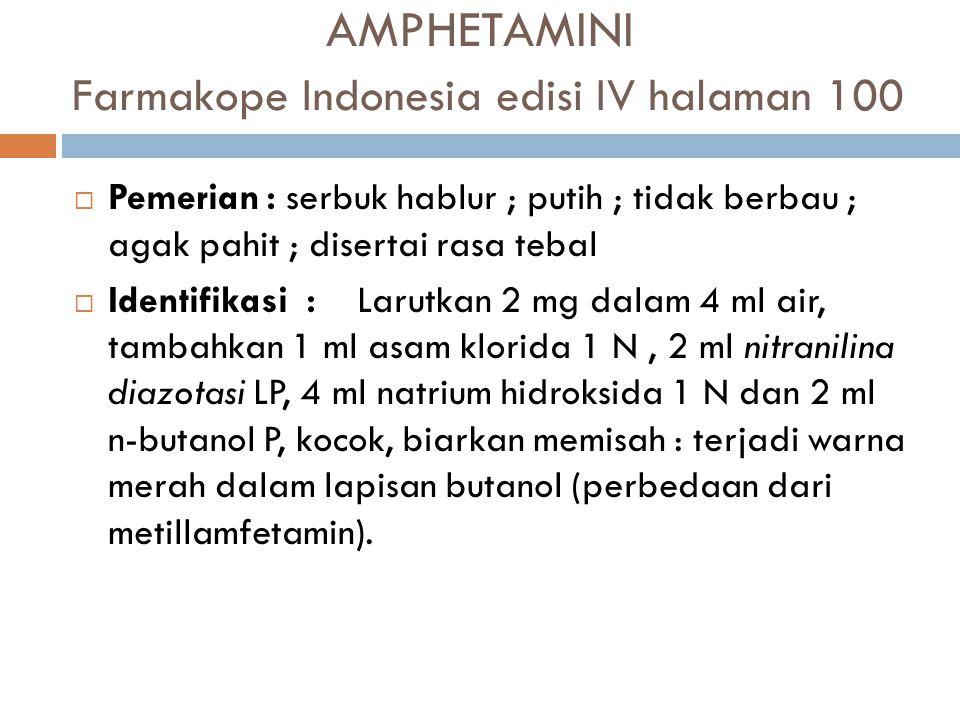 AMPHETAMINI Farmakope Indonesia edisi IV halaman 100