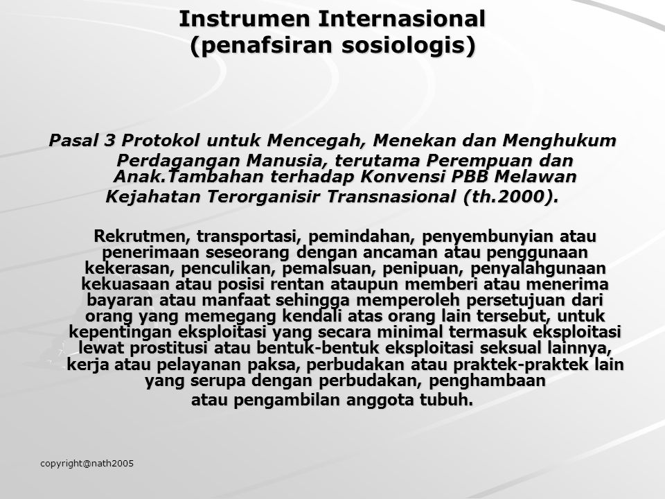 Instrumen Internasional (penafsiran sosiologis)