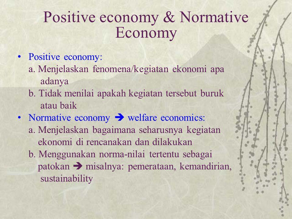 Positive economy & Normative Economy