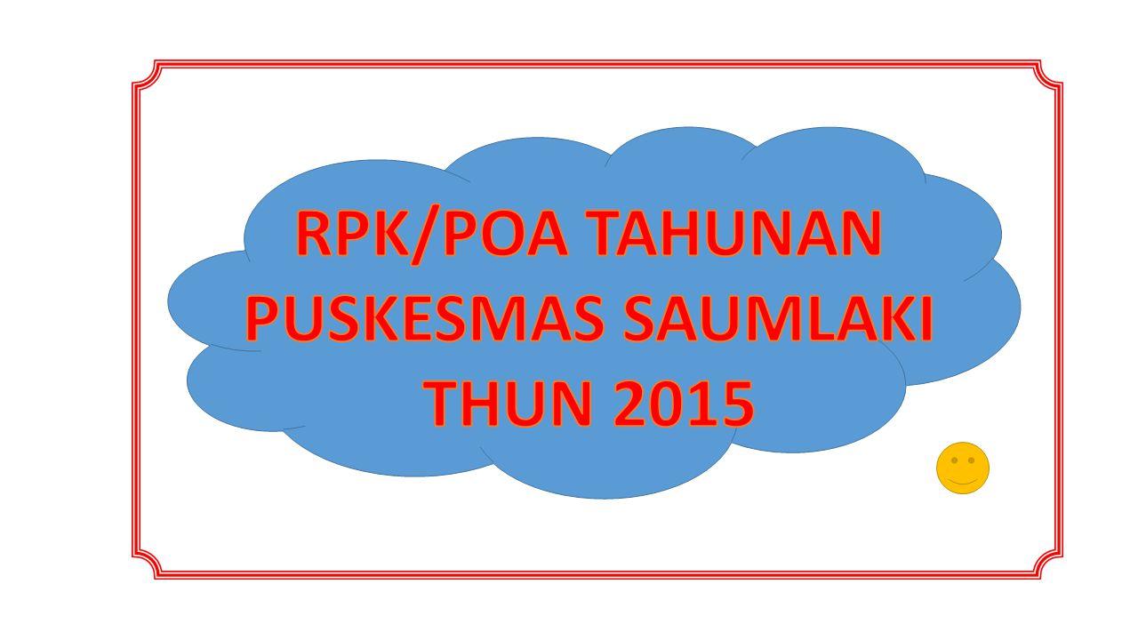 RPK/POA TAHUNAN PUSKESMAS SAUMLAKI THUN 2015
