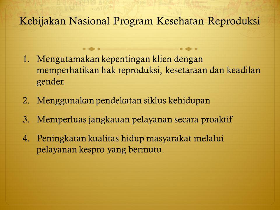 Kebijakan Nasional Program Kesehatan Reproduksi