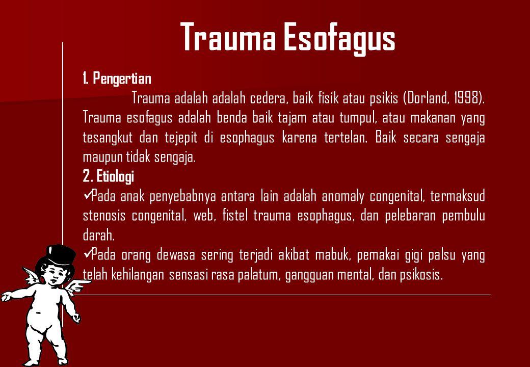 Trauma Esofagus 1. Pengertian