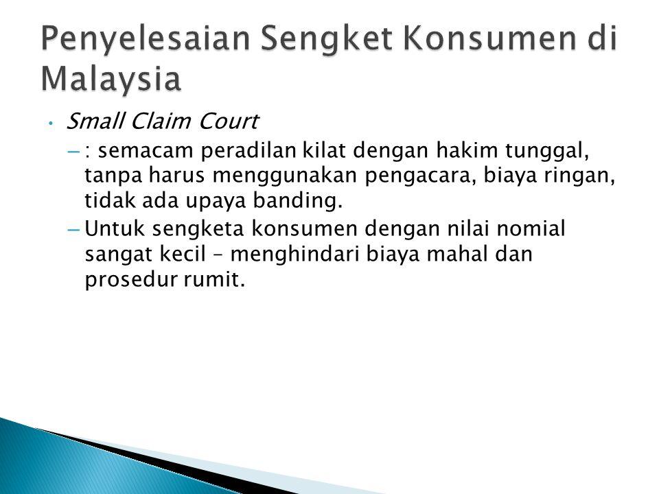 Penyelesaian Sengket Konsumen di Malaysia
