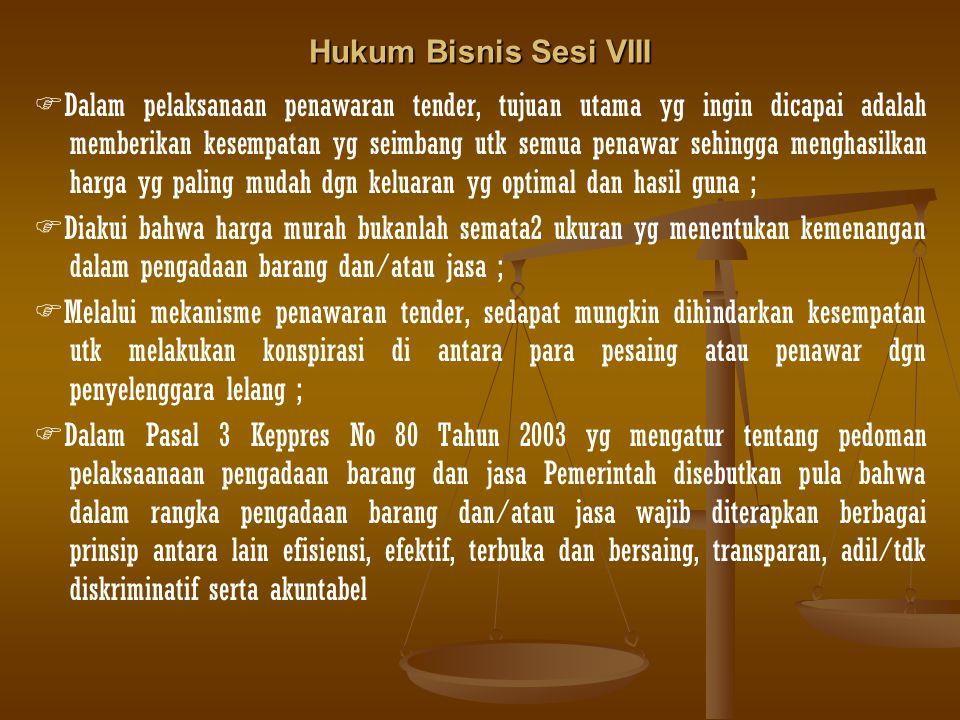 Hukum Bisnis Sesi VIII